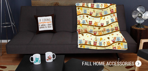 Cozy fall home accessories